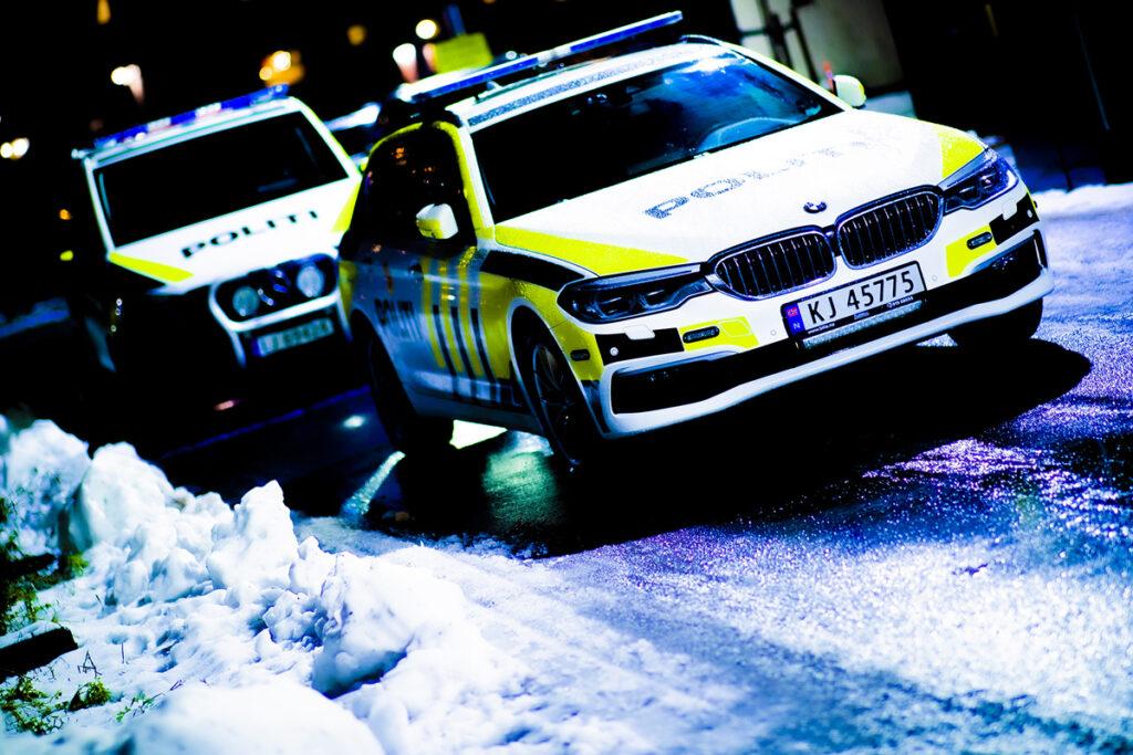Politibiler i aksjon