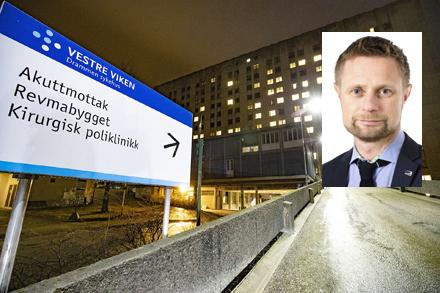 Drammen sykehus med Bent Høie