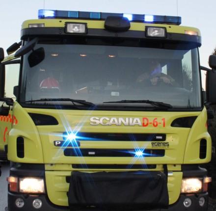 Brannbil med blålys